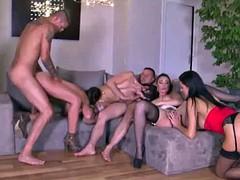 Double penetration for evy, durmiendo sex scene