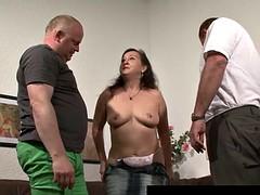 Horny german milf take two dicks